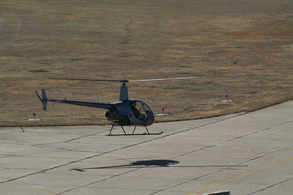 Dallas Executive Airport helicopter