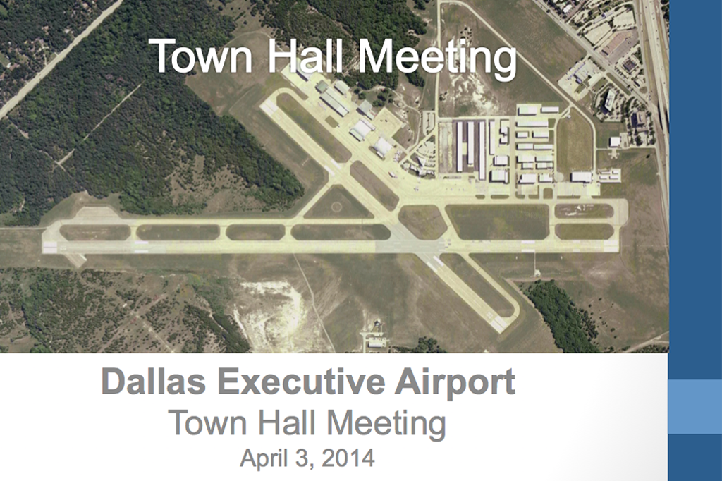 Dallas Executive Airport Town Hall Meeting Presentation