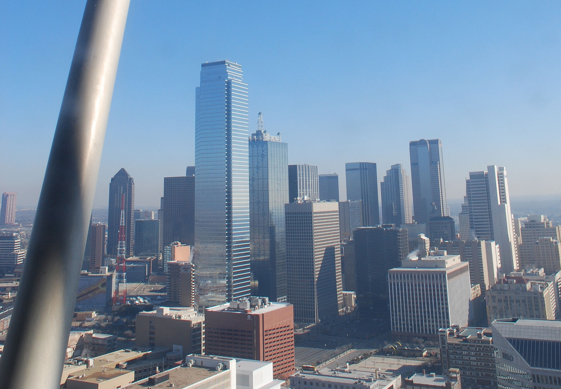 Downtown Dallas view from Reunion Tower